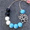 Lotus Necklace - Cornflower Blue