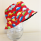Boys summer hat in red car fabric