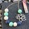 Lotus Necklace - Mint
