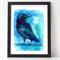 Tasmanian Forest Raven Watercolour A4  Print