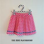 Sizes 1, 2, or 3, pink chevron, 'The Zarli Everyday Skirt'