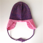 Hand Knitted Earflap Hat | Pure Wool | Girls | Child | Size 6 - 9 Years