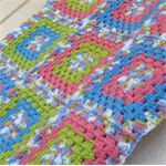 baby blanket | crochet afghan | watermelon pink, green, blue | gift | girl