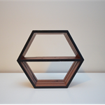Hexagon Shelf - Black