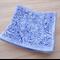 Blue floral vine porcelain ring dish, ring holder, ring pillow. Ceramic bowl