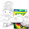 Colour Me Knight and Dragon with Washable Markers