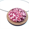 Circular Timber Pendant - Pink and Plum Blossom