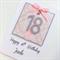Happy Birthday 18th pink silver glitter present custom ANY AGE heart XL card