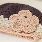 baby beanie | crochet | girls | charcoal blush cream