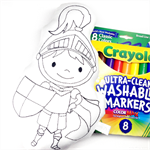 Colour Me Knight with Washable Markers
