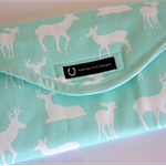 Baby Changing Mat / Nappy Wallet  Deer Silhouette  & Chevron