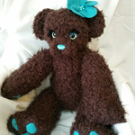 Knitted Bear with flower