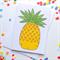 Pineapple Card.Blank. Free Post.