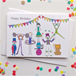 Happy Birthday Circus Card. Free Post.