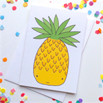 Pineapple Card.Blank. Free Post.