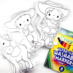 Colour Me Horse Cowboy Cowgirl with Washable Markers