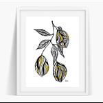 Lemon Branch Art Poster Instant Download