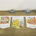Three Little Pigs Bunting Children Garland Decor Nursery Rhymes Fairytale