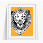The Lion Art Poster Instant Download