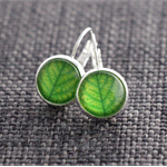 Leaf Green ~ Lever Back Earrings