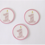 12 PRE CUT EDIBLE RICE PAPER WAFER CARD 1ST BIRTHDAY NO. 1 CUPCAKE PARTY TOPPERS