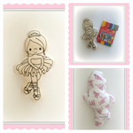 Colour-me Ballerina Plush Doll with 10 Washable Markers Set