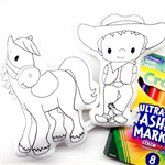 Colour Me Horse and Cowboy with Washable Markers