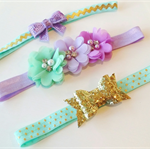"""Butterfly Kisses"" Trio of Headbands"