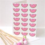Watermelon Card.Blank. Free Post.