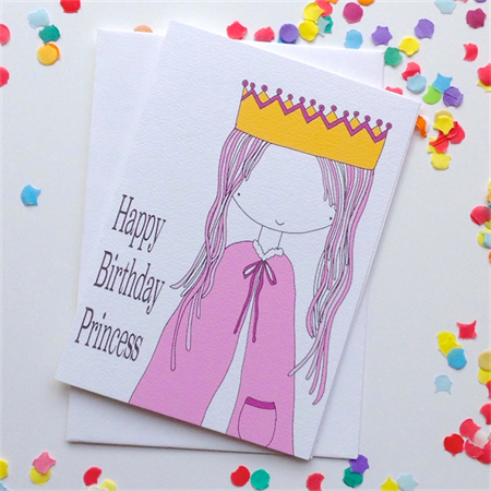 Happy Birthday Princess Card. Free Post.