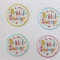 12 PRE CUT EDIBLE BRIDAL SHOWER PAPER WAFER CARD CUPCAKE  TOPPERS