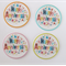 12 PRE CUT EDIBLE HAPPY ANNIVERSARY PAPER WAFER CARD CUPCAKE  TOPPERS
