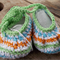 """crochet baby shoes """"dancing feet""""  cotton and cotton blend 9-10cm foot"""