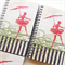 Notebook blank wire bound ballerina journal sketch book notepad diary guest book