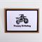 Dirt Bike Card  Boys  Men  Birthday Card for Him  Black & White  HBDAY001