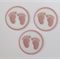 12 PRE CUT EDIBLE PINK BABY FEET BABY SHOWER RICE PAPER WAFER CARD CAKE  TOPPERS