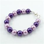 Girl's Beaded Bracelet - purple