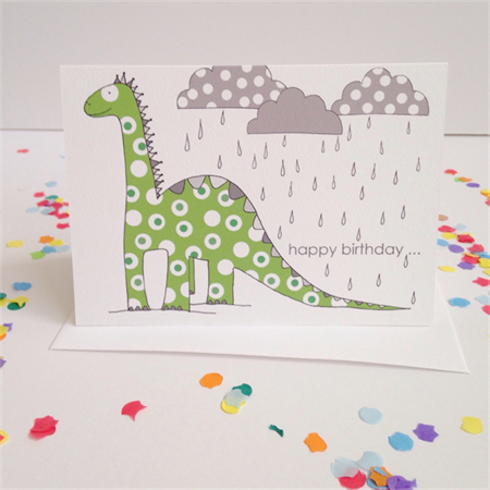 Dinosaur Birthday Card. Free Post.