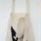 Love first calico tote bag canvas market beach bag shopper
