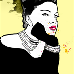 Grace (lemon) Fashion illustration Prints, wall art, home décor