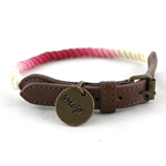 Rough Rope Dog Collar - Ombre Crimson Red