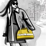 Annie (yellow) - Fashion illustration Prints, wall art, home décor