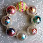 Disney Princesses  Boutique Pearl Bead Bracelet Princess Birthday Party