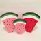 Large handmade wooden watermelon stacker. PINK or RED. (7 Piece)