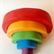 MINI handmade wooden rainbow. (5 Piece)