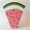 Medium handmade PINK wooden watermelon stacker. (7 Piece)