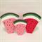 Medium handmade PINK wooden watermelon stacker. (7 Piece)