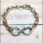 Personalised Hand Stamped Infinity Adult or Kids Name Bracelet