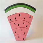 Large handmade PINK wooden watermelon stacker. (7 Piece)
