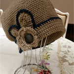 1920's inspired cloche hat